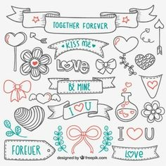 Love hand drawn elements