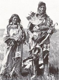 Weasel Calf and wife, Blackfoot. ac