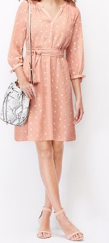How sweet is this Floral Embroidered Shirtdress? It's also comfortable and feminine -- perfect for spring weekends and special events. #springdress #embroireddress #comfyweekendoutfit
