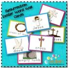 FINALLY Christian/Resurrection Word Wall Cards!!!! I love the Jesus Clip Art! It's soooo cute!!!!
