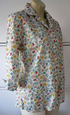 Liberty-Edenham-ditsy-spring-floral-printed-tana-lawn-shirt-by-Rowlands-size-M