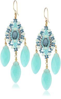Amazon.com: Miguel Ases Green Quartz and Rainbow Hydro-Quartz Chandelier Earrings: Jewelry
