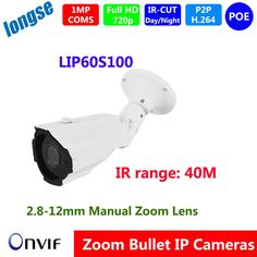 86.00$  Buy now - http://aliqpf.worldwells.pw/go.php?t=32730439610 - NEW Product 1MP 1280*720P  CCTV Camera  Outdoor Waterproof POE Bullet Night Vision IR rang 40M Security Video Surveillance