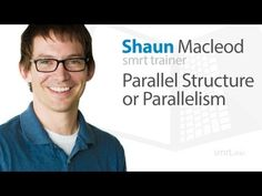 This video goes over parellel structure. It talks about about balancing sentences so that they have a nicer flow. It gives lots of examples on how to use and how not to use parellel structure.