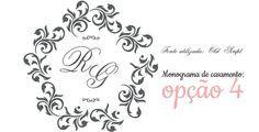 Download: Monogramas gratuitos para o seu convite de casamento