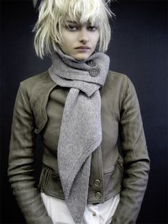 I need to alter one of my scarves and button it up!  From fashionrat.com