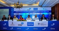 Mr. Sanjeev Duggal are proud to launch this unique mass outreach initiative for the Pradhan Mantri Kaushal Vikas Yojana scheme in partnership with COAI. Image source:- Centum Learning