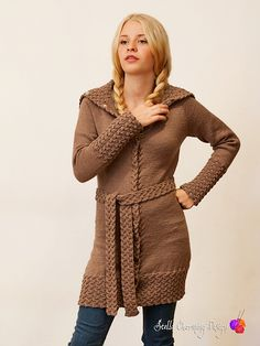 Tellus: Long cardigan with cable knit details. Super soft in DROPS Baby Merino.