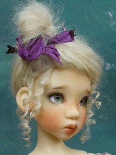 OOAK Handmade Mohair Wig for MSD by Monica Spicer