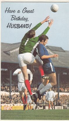Happy Birthday Husband Vintage Chelsea Peter Osgood 1970's Greeting Card | eBay Chelsea Fans, Chelsea Football, Happy Birthday Husband, Football Memorabilia, Vintage Greeting Cards, Paper Art, Sports, English, Colour