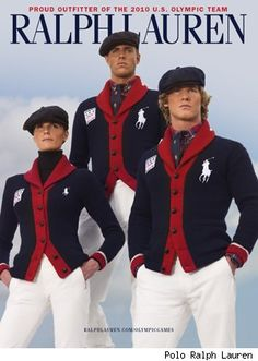 Polo Ralph Lauren's Olympian wear worn by the US Olympic team, Ralph Lauren being an iconic American designer. Preppy Mens Fashion, Nautical Fashion, Ralph Lauren Style, Polo Ralph Lauren, Ralph Lauren Olympics, Ivy League Style, Preppy Look, Sharp Dressed Man, Men Street