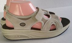 Easy Spirit Esfabulous BEIGE Velcro SlipOn Sport Sandals Ladies US 9 = Free Ship #EasySpirit #SportSandals