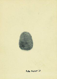 Piero Manzoni. Fingerprint. 1960