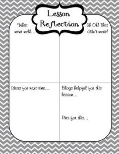 Lesson Reflection/ Andrea Shelby? Throw a couple of these in each of the monthly LANG ARTS binders for us?