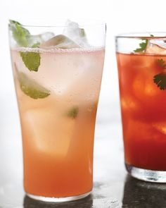 This spicy drink -- with the flavors of tomato juice, tequila, fresh cilantro, and hot pepper sauce -- is the perfect refresher for easy summer entertaining. Its equally good paired with tortilla chips at cocktail hour or with huevos rancheros for brunch. Summer Cocktails, Cocktail Drinks, Cocktail Recipes, Summer Beverages, Summer Sangria, Party Drinks, Sparkling Drinks, Cocktail Ideas, Cocktail Parties