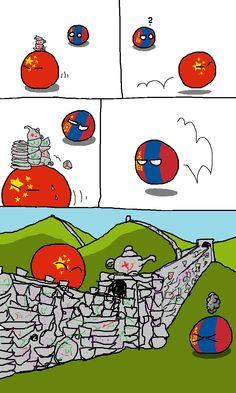 Living in the past. ( China, Mongol ) by Hansafan #polandball #countryball