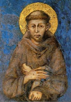 """""""Remember that when you leave this earth, you can take with you nothing that have received—only what you have given."""" — Saint Francis of Assisi (painting by Giotto in the Basilica of St. Francis crypt in Assisi, Italy) Catholic Art, Catholic Saints, Patron Saints, Religious Art, Francis Of Assisi, St Francis, Fresco, Holy Art, St Clare's"""