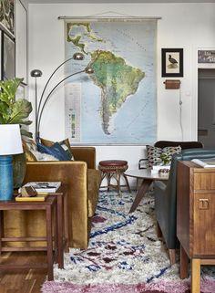 Maison en bois fin table avec undershelf Stockage Salon Carré Cube Design nouveau