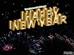 See the PicMix happy new year gif belonging to musiclovesilence on PicMix. Happy New Year Text, Happy New Year Pictures, Happy New Year Photo, Happy New Year Message, Happy New Year Quotes, Happy New Year 2019, Holiday Pictures, New Month Wishes, New Year Wishes Images