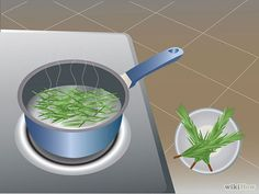 Make your own herbal flea dip. Take two cups of fresh rosemary leaves and add them to two pints of water. Boil for thirty minutes. Strain th...