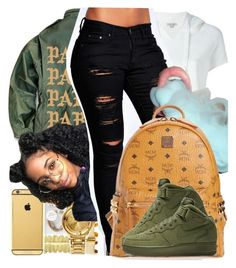 """""""Untitled #81"""" by bxby-girl-rielle ❤ liked on Polyvore featuring Calvin Klein Jeans, Boohoo and MCM"""