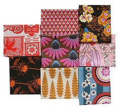Purple coneflower fabric Anna Maria Horner