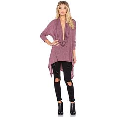 Michael Stars Asymmetrical Cowl Neck Poncho Sweaters & Knits ($58) ❤ liked on Polyvore featuring tops, sweaters, sweaters & knits, cowl neck poncho sweater, knit sweater, asymmetrical top, michael stars sweater and knit poncho sweater