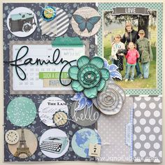 #papercraft #scrapbook #layout. Family - Scrapbook.com