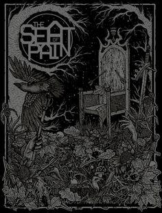#seatofpain #shapefromhell #darkart #spiritism #nature #leaves #skulls #illustration