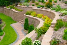 Free Landscape Designs Using Interlocking Concrete Retaining Wall Blocks.  Cost To Build A Retaining Wall Block With Prices U0026 Design Ideas.