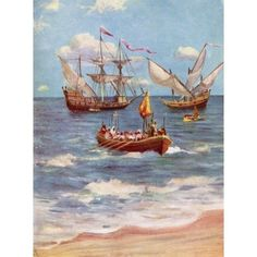 Vasco Da Gama Landing Near Calicut India In 1498 Vasco Da Gama 1St Count Of Vidigueira C1460 Or 1469 To 1524 Portuguese Explorer From The Great Explorers Columbus And Vasco Da Gama Canvas Art - Ken We