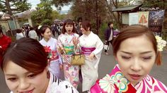 Moments in Kyoto - Kimono Makeover | Woman's Heart & Cherry Blossom Fron...