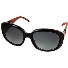 @Overstock - Add a designer touch to any ensemble with stylish Valentino sunglasses  Eye protection is fashionable and useful  Glasses feature 100-percent UVA and UVB protection http://www.overstock.com/Clothing-Shoes/Valentino-5570-S-Black-Red-Womens-Sunglasses/4355769/product.html?CID=214117 $93.99