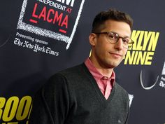 "Why yes Andy those glasses do make you look smart. Andy Samberg arrives at an event honoring his show ""Brooklyn Nine-Nine"" May 7 in Los Angeles. Rich Fury, Invision via AP"