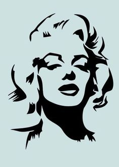 Black And White Stencil Art is well-known. It is a great way for you to redecorate your house or generate art parts. Moreover stencil art will be fun. Marilyn Monroe Dibujo, Marilyn Monroe Drawing, Pencil Art Drawings, Art Sketches, Drawing Art, Stencil Art, Stencils, Harry Potter Silhouette, High School Art
