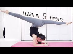 how to do the splits in one day  how to do splits