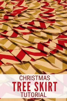 Make a beautiful Handmade Christmas Tree Skirt with fabric and a glue gun! Click here for the step by step tutorial. #thecraftyblogstalker #christmastreeskirt #handmadechristmas #christmas Handmade Christmas Tree, Simple Christmas, Diy Christmas, Christmas Decorations, Skirt Tutorial, Glue Gun, Easy Diy Crafts, Craft Tutorials, Tree Skirts
