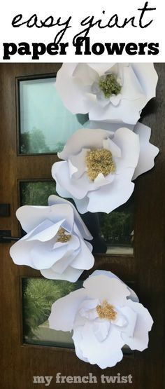 #giantPaperFlowers Cute Crafts, Crafts To Make, Crafts For Kids, Diy Crafts, Craft Tutorials, Craft Projects, Craft Ideas, Diy Ideas, Hydrangea Not Blooming