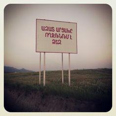 Liberated Artsakh welcomes you! #Karabakh #Armenia