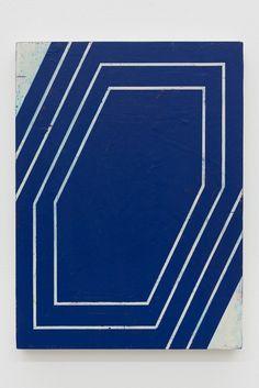 Alain Biltereyst Untitled 2014, Acrylic paint on plywood 13 3/5 × 10 in