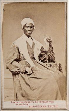 Sojourner Truth fue una abolicionista y activista por los derechos de la mujer. Truth nació bajo esclavitud, pero escapó con su hija en 1826.