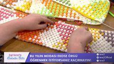 Yılın modası ''Ekose Örgü'' / planned poolig crochet - YouTube