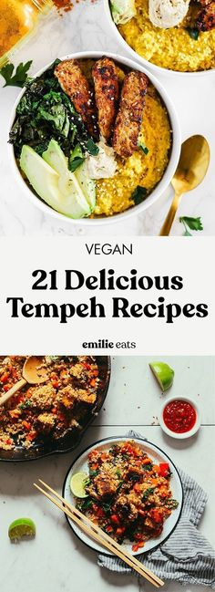 21 Delicious Vegan Tempeh Recipes Have you ever tried tempeh? Try some of these 21 delicious vegan tempeh recipes to enjoy this protein-packed meat substitute. The post 21 Delicious Vegan Tempeh Recipes appeared first on Vegan. Tempeh Recipes Vegan, Vegan Dinner Recipes, Vegan Dinners, Veggie Recipes, Whole Food Recipes, Vegetarian Recipes, Cooking Recipes, Healthy Recipes, Delicious Recipes