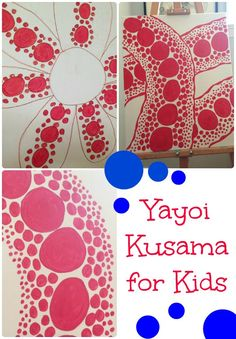 Understanding and exploring the art of Yayoi Kusama with kids. Creating a Yayoi Kusama inspired piece of art. Art Lessons For Kids, Art Lessons Elementary, Art For Kids, Japan For Kids, Kids Art Class, Kid Art, School Art Projects, Projects For Kids, Polka Dot Art
