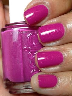 Essie The Girls Are Out. A bold yet demure pinky-purple with hints of silver shimmer.