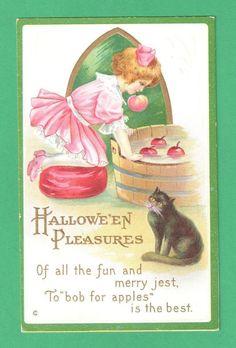 Halloween Postcard Girl