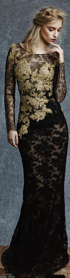 Reem Acra Pre-Fall 2015  jaglady.  Advertising for dress would probably be more effective if model's head wasn't shown.  Hair is atrocious.