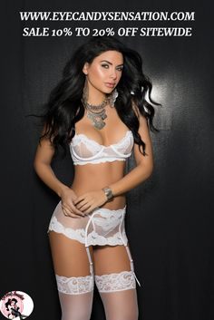 This Three Piece Bondage Lingerie Set features Sexy Lingerie Bondage mesh underwire bra with adjustable straps Waist cincher has boning and hook and eye closure. Garters are adjustable and detachable. Lingerie For Sale, Lingerie Set, Women Lingerie, Bridal Lingerie, Vintage Lingerie, Waist Cincher, Wedding Bra, Black White, White Lace