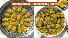 Bafela Cabbage Muthiya Vadi or Wadi - Steamed Veg Cakes Video Recipe | B... Gujarati Cuisine, Gujarati Recipes, Bhavna's Kitchen, Steam Recipes, Cake Videos, Food Items, Green Beans, Steamed Food, Cabbage