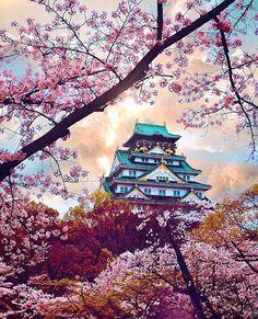 Osaka Castle in spring - Japan